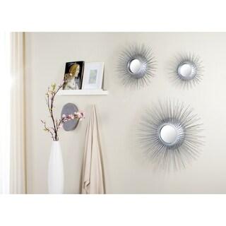 Safavieh Triptych Silver Sunburst Mirror (Set of 3)