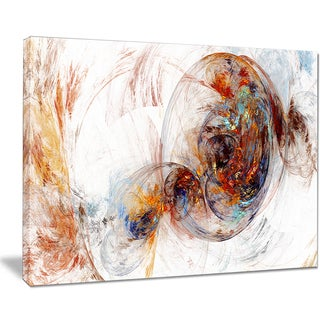 Designart - Colored Smoke Brown - Abstract Digital Art Canvas Print