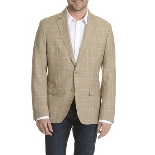 Daniel Hechter Men's Wool Blend Windowpain Plaid Sport Coat