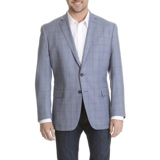 Daniel Hechter Men's Windowpane Plaid Fine Wool Sport Coat