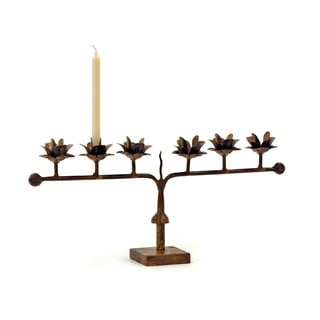 Hip Vintage Line of Roses Candle Holder