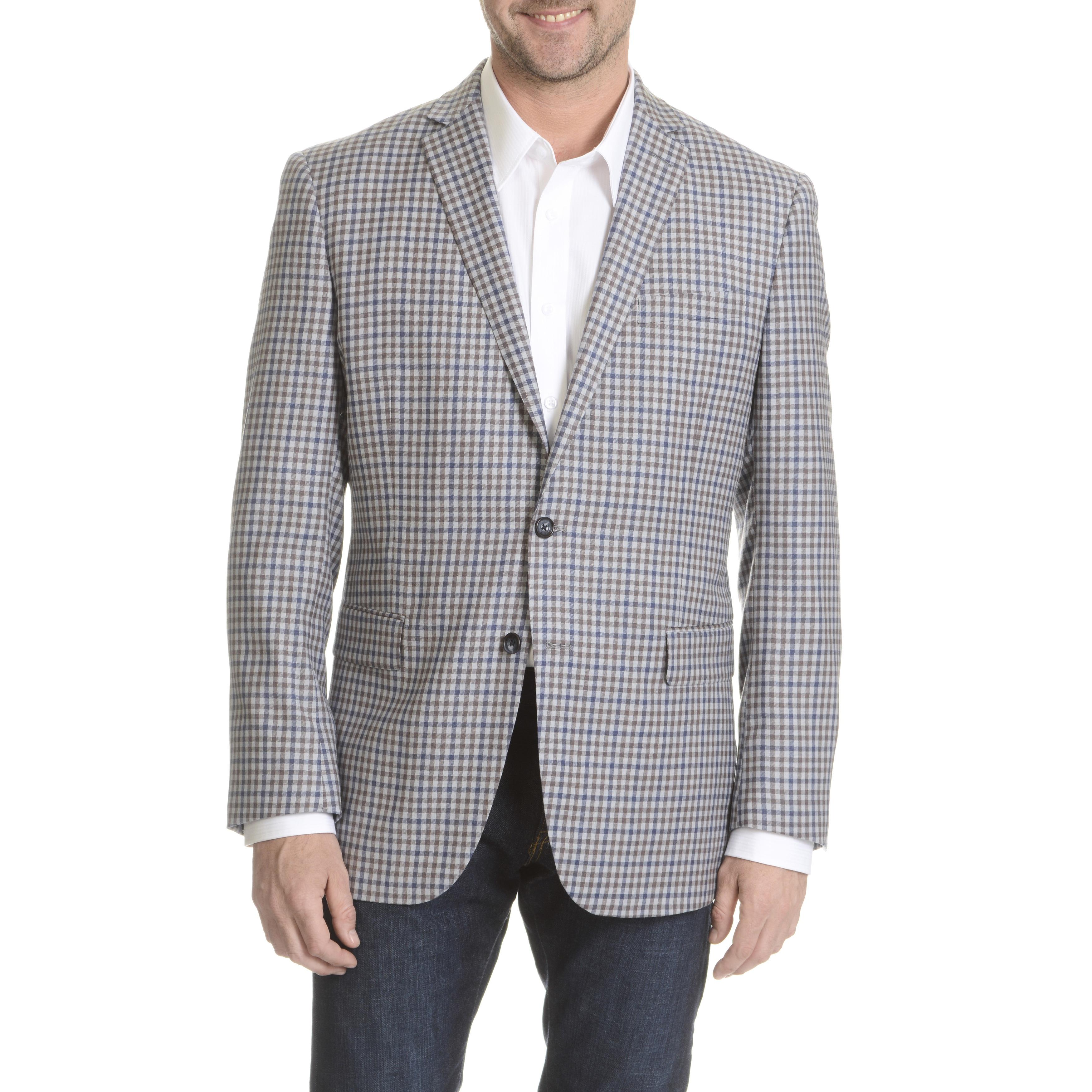 Daniel Hechter Men's Fine Wool Check Plaid Sport Coat (Na...