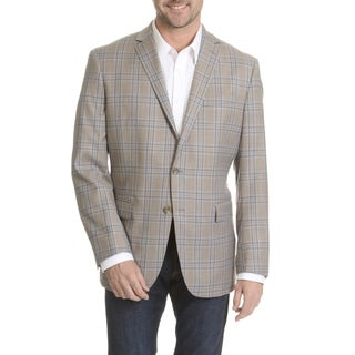 Daniel Hechter Men's Windowpain Plaid Fine Wool Sport Coat