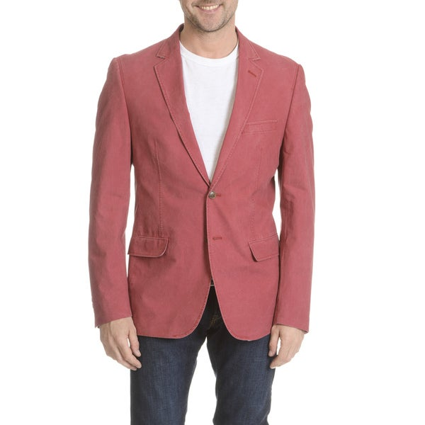 Daniel Hechter Men's Garment-washed Trim Fit Sport Coat
