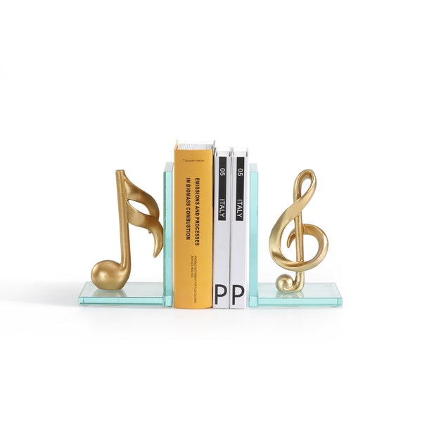 Danya B. Gold Musical Glass Bookends