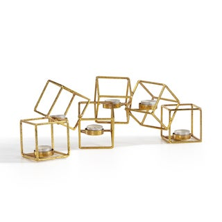 Danya B. Sparkling Gold Six Cube Candle Holder