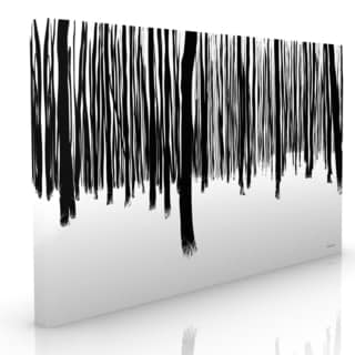 Maxwell Dickson's 'Black and White Forest' Modern Canvas Wall Art