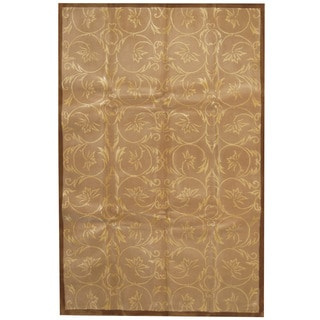 Herat Oriental Indo Hand-tufted Tibetan Wool and Silk Rug (5'5 x 8'5)