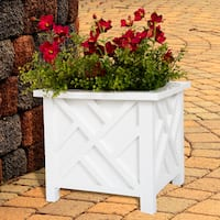 Pure Garden White Planter Box