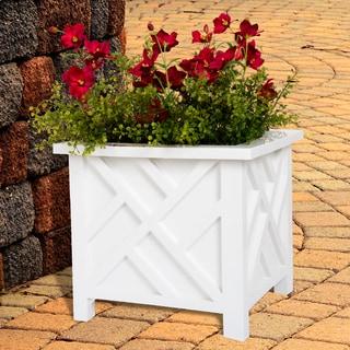 Charmant Pure Garden Box Planter   White
