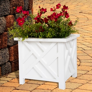 Pure Garden Box Planter - White - 14.75 x 14.75 x 13.75