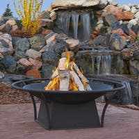 Real Flame Parker Black 38.75 in. Dia x 19.5 in. H Fire Bowl