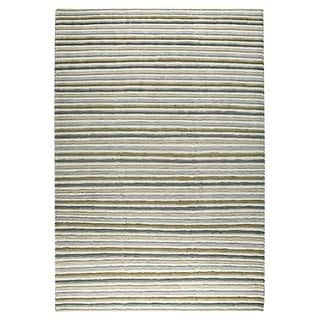 M.A. Trading Indo Hand-knotted Manchester Natural Rug (4'6 x 6'6)