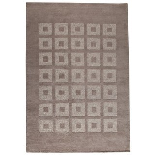 M.A.Trading Indo Hand-knotted Marmara Grey Rug (8'3 x 11'6)