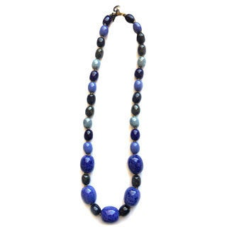Handmade Kazuri Ceramic BirdEgg Necklace (Kenya)