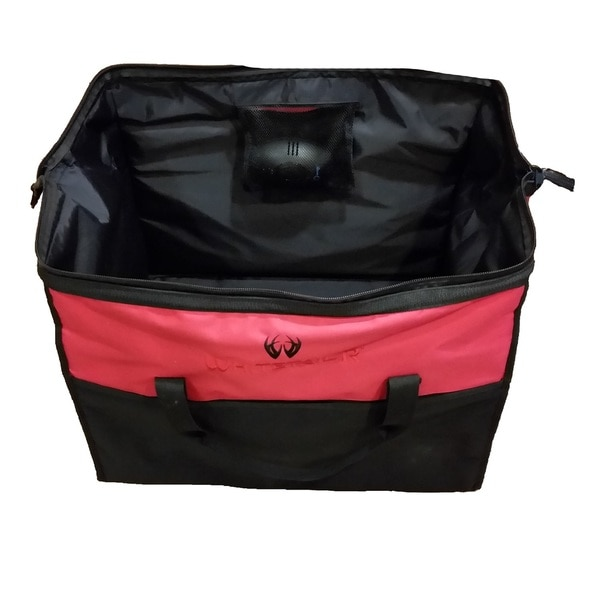 Whitetail'R ScentPurge BigMouth Red and Black Polyester Bag System
