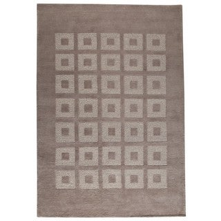 M.A. Trading Indo Hand-knotted Marmara Grey Rug (4'6 x 6'6)