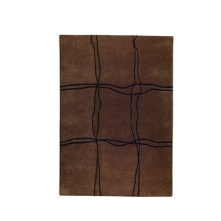 M.A.Trading Indo Hand-tufted Amsterdam Brown Rug (9' x 12')