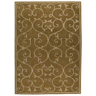 M.A.Trading Indo Hand-tufted Annapurna Olive Green Rug (8'3 x 11'6)