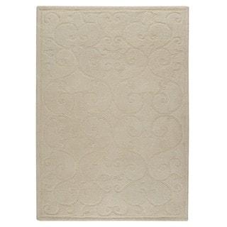 M.A.Trading Indo Hand-tufted Annapurna White Rug (5'6 x 7'10)
