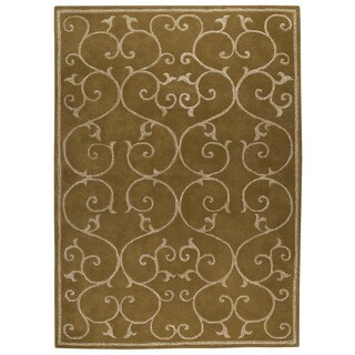 M.A.Trading Indo Hand-tufted Annapurna Olive Green Rug (9' x 12')