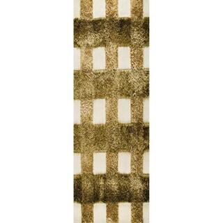 Indo Hand-tufted Kent Khaki Rug (2'8 x 7'10)