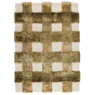 M.A.Trading Indo Hand-tufted Kent Khaki Rug (4'6 x 6'6)