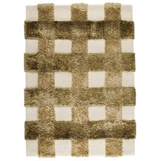 M.A.Trading Indo Hand-tufted Kent Khaki Rug (8'3 x 11'6)