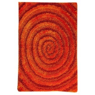 M.A. Trading Indo Hand-tufted Landscape Orange Rug (7'10 x 9'10)