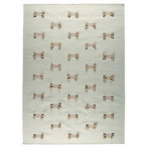"Handmade M.A. Trading Indo Napoli White Rug (India) - 4'6"" x 6'6"""