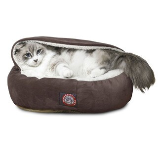 Majestic Pet 18-inch Faux Suede Canopy Cat Bed