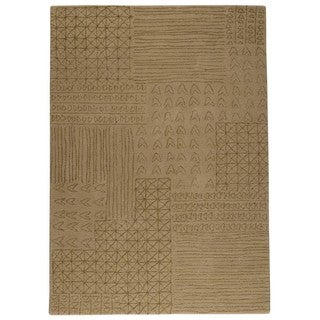 M.A. Trading Indo Hand-tufted Tripoli Beige Rug (4'6 x 6'6)