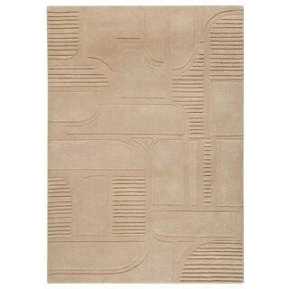 M.A.Trading Indo Hand-tufted Orlando Sand Rug (8'3 x 11'6)