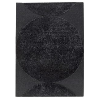 M.A.Trading Indo Hand-tufted Rondo Black Rug (5'6 x 7'10)