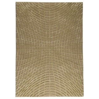 M.A. Trading Indo Hand-tufted Vermont Beige Rug (4'6 x 6'6)