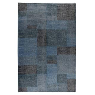 M.A. Trading Indo Hand-woven Lina Turquoise Rug (6'6 x 9'9)