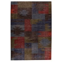 M.A. Trading Indo Hand-woven Lina Classic Multi Rug (5'6 x 7'10)