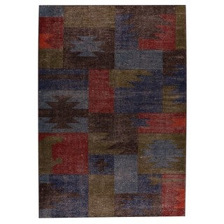 M.A.Trading Indo Hand-woven Lina Classic Multi Rug (6'6 x 9'9)