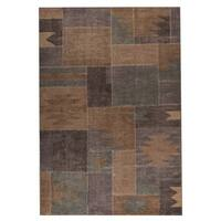 M.A. Trading Indo Hand-woven Lina Classic Silver Sage Rug (8'3 x 11'6)