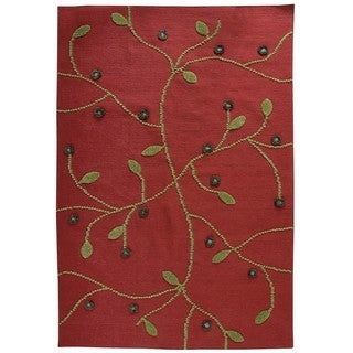 M.A.Trading Indo Hand-woven Santa Fe Red Rug (8'3 x 11'6)
