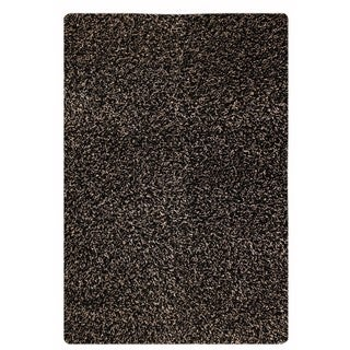 M.A.Trading Indo Hand-woven Solo Cosmo Black Rug (7'10 x 9'10)