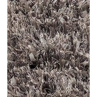 M.A. Trading Indo Hand-woven Solo Sorso Light Grey Rug (7'10 x 9'10)