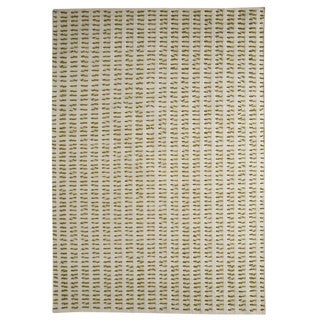 M.A. Trading Indo Hand-woven Palmdale White Green Rug (6'6 x 6'6)