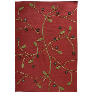M.A. Trading Indo Hand-woven Santa Fe Red Rug (5'6 x 7'10)