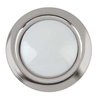 Carlon Lamson & Sessons DH1201 8-24V Silver Rim Lighted Wired Round Push Doorbell Button