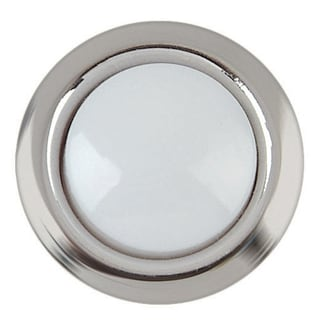 Carlon Lamson & Sessons DH1201L 8-24V Silver Rim Lighted Wired Round Push Doorbell Button