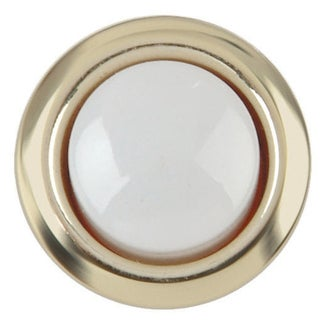 Carlon Lamson & Sessons DH1202 8-24V Gold Rim Lighted Wired Round Push Doorbell Button