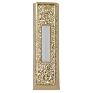 Carlon Lamson & Sessons DH1405L Gold Lighted Wired Rectangular Push Button