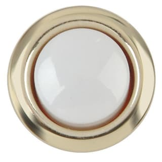 Thomas & Betts DH1202L Carlon Gold Rim Lighted Wired Round Push Button