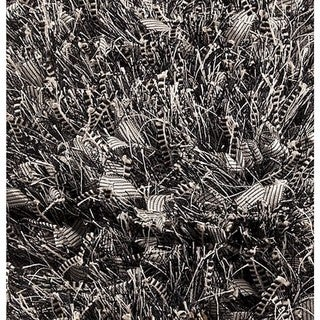 M.A.Trading Indo Hand-woven Solo Sorso Black Rug (7'10 x 9'10)